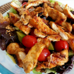 Chiken salad with honey and ginger