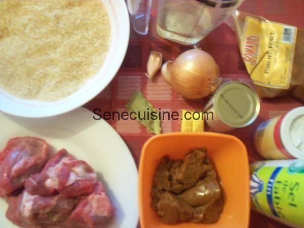 Ingrédients préparation Dahine
