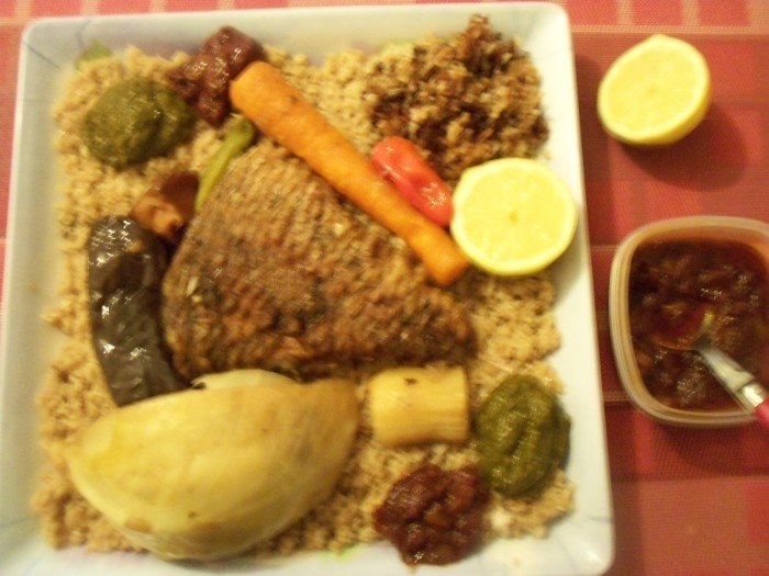 Thieb bou wekh sauce netetou