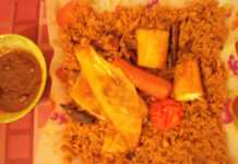 Thiebou kéthiakh avec sauce tamarin