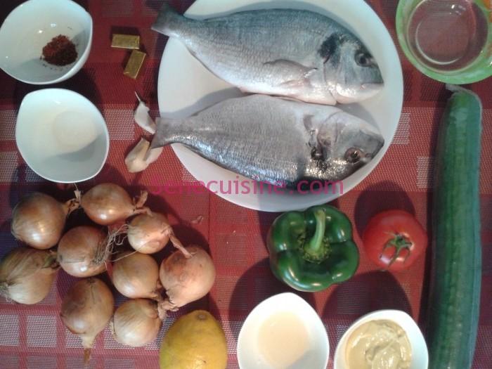 Photo: Ingrédients pour la préparation du Yassa au poisson