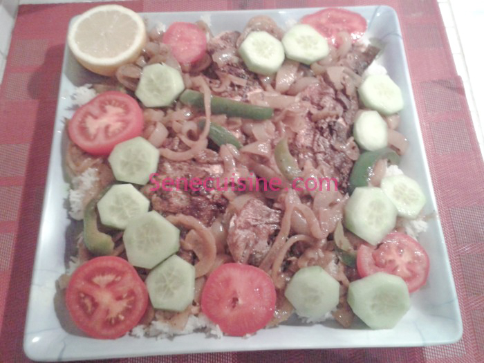 Photo plat Yassa au Poisson