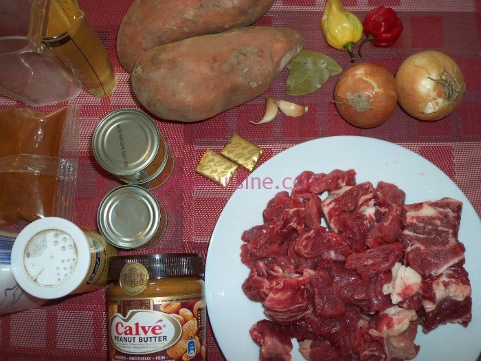 Ingrédients Mafé