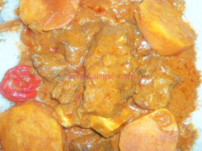 Recette du mafé (sauce à la pâte d'arachide et à la viande ...