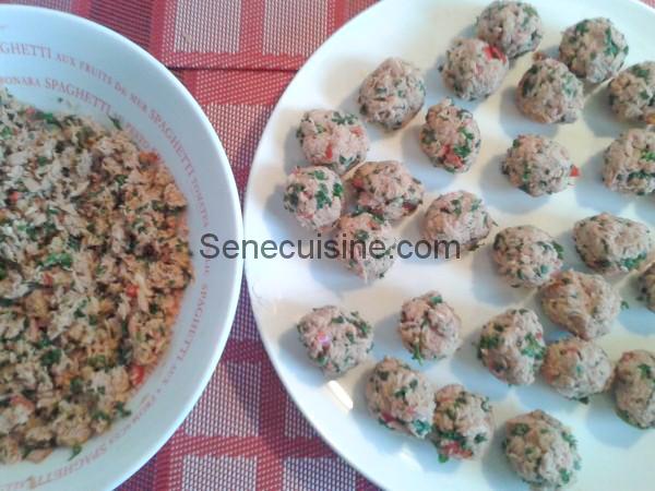Poisson haché pour boulettes