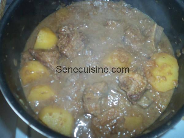Préparation sauce à la viande touffé 6