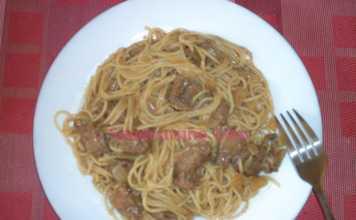 Spaghettis à la viande