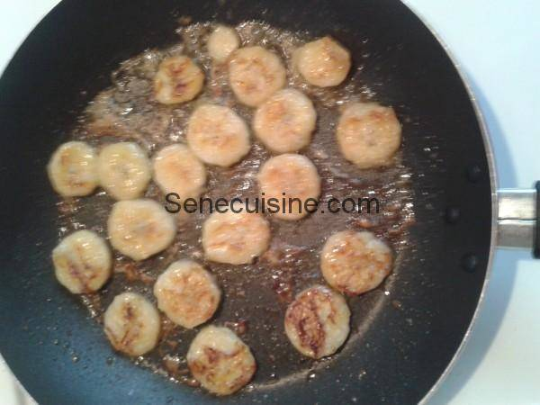 Bananes caramelisees pour crepes