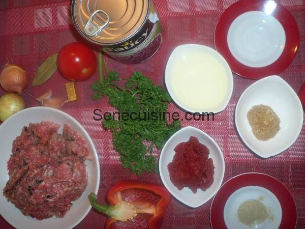 Ingrédients Préparation Chili con carne