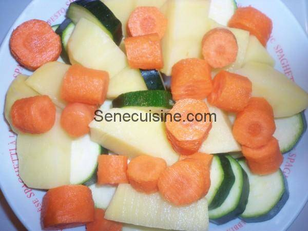 Légumes pour couscous d'agneau
