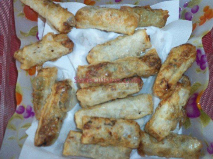 Nems aux crevettes cuits