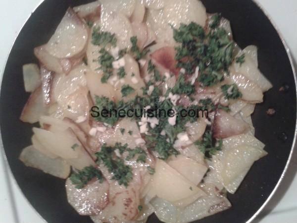 Pommes de terre Ail Persil pour Tortillas