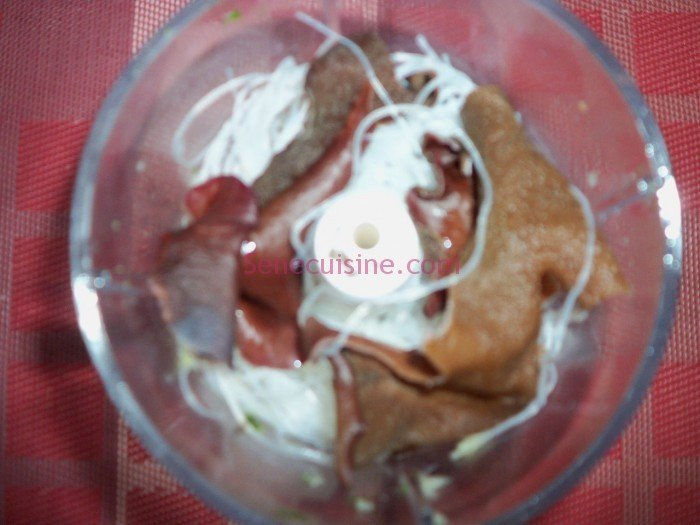 Préparation farce nems aux crevettes 4