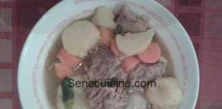 Soupe de viande et légumes