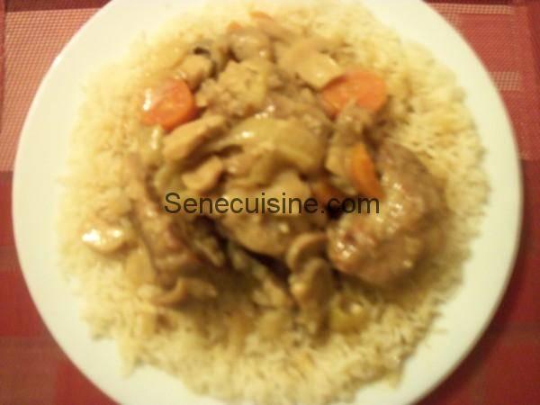 Blanquette de veau avec du riz