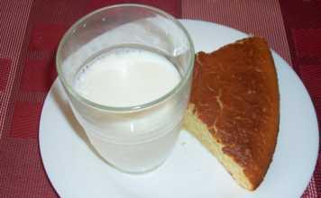 Gâteau au yaourt avec 1 verre de lait
