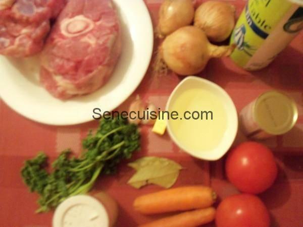 Ingrédients Osso bucco