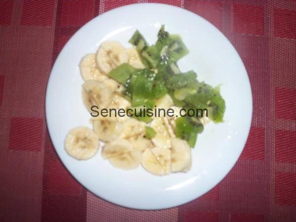 Morceaux Kiwi Banane pour smoothie