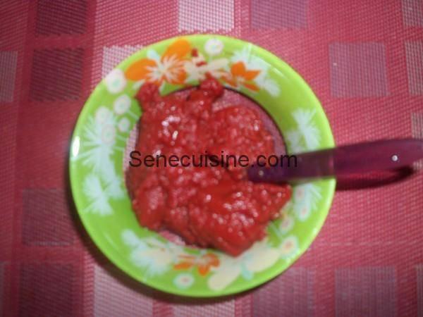 tomate concentrée pour boeuf à la sauce tomate thiou yapp