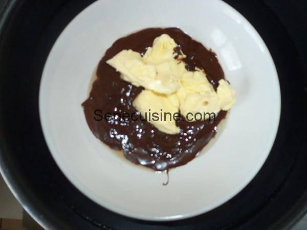 Chocolat beurre au bain marie