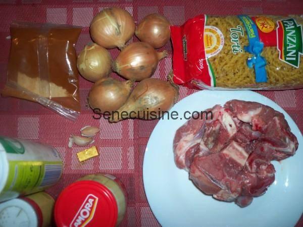 Ingrédients Macaronis à la viande