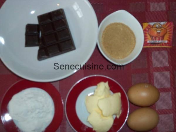 Ingrédients Moelleux au chocolat