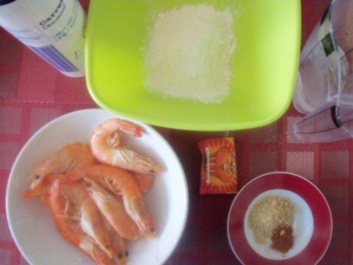 Ingrédients beignets crevettes