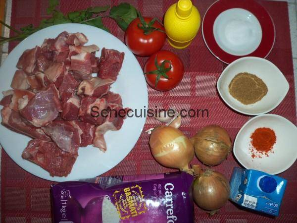 Ingrédients préparation Agneau Tikka Massala