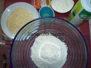 Ingrédients préparation nan au fromage