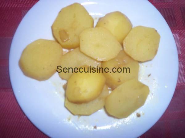 Pommes de terre pour Thiou curry
