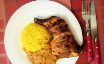 Poulet tandoori sauce riz au curcuma