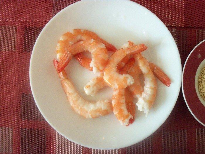 Préparation beignets crevettes 2