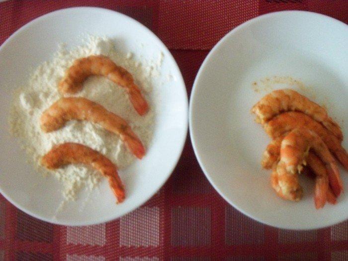 Préparation beignets crevettes 3