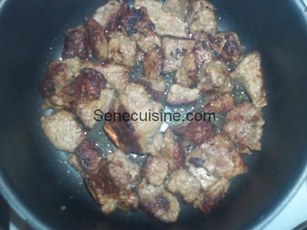 Viande sautée pour Thiou Curry