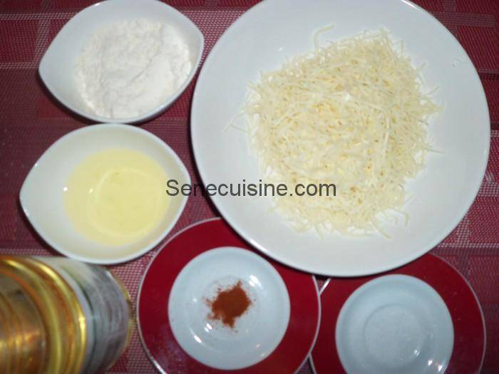 Ingrédients beignets d'emmental