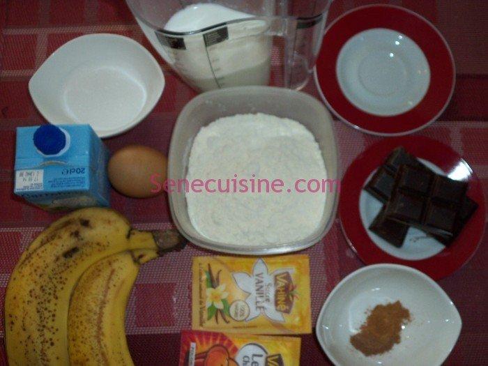 Ingrédients prréparation beignets bananes