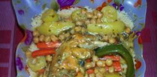 Préparation couscous poulet légumes 18