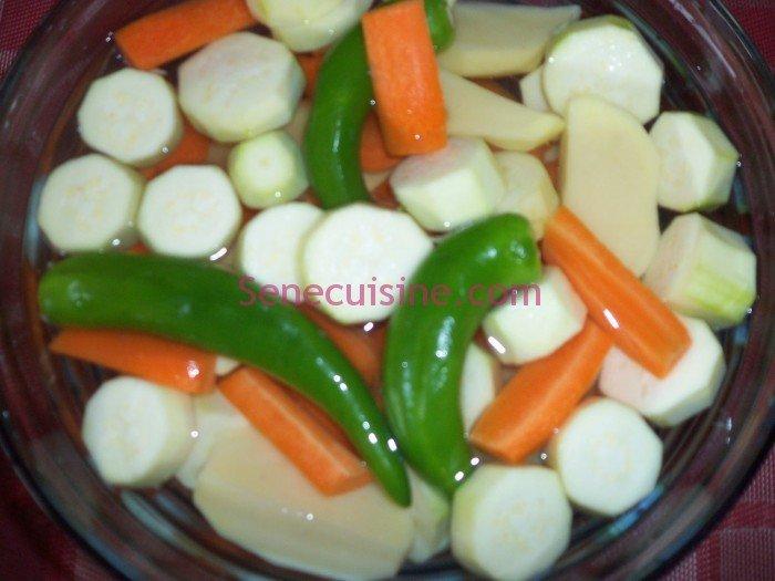 Préparation couscous poulet légumes 10