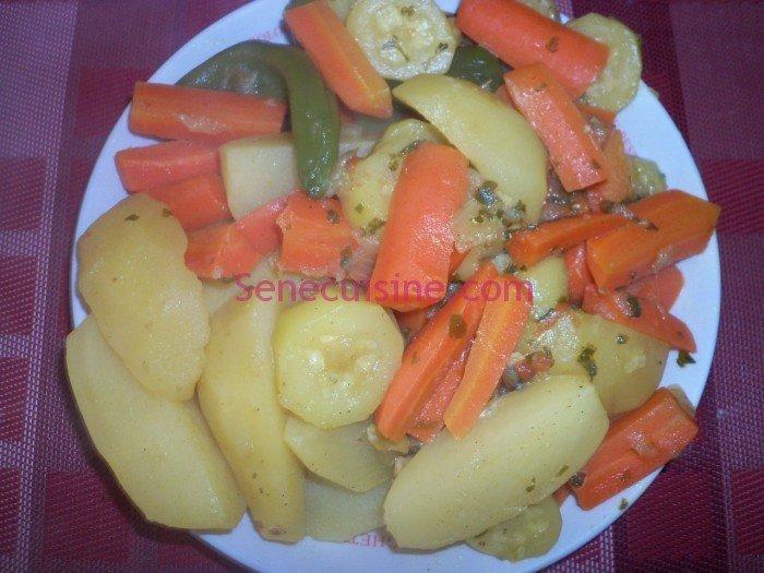 Préparation couscous poulet légumes 14