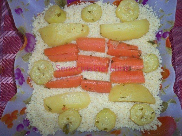 Préparation couscous poulet légumes 17