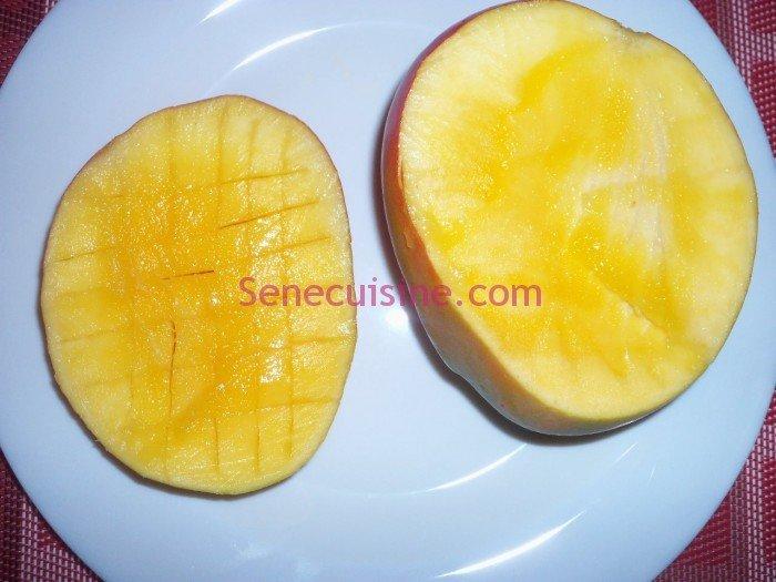 Préparer une mangue 2