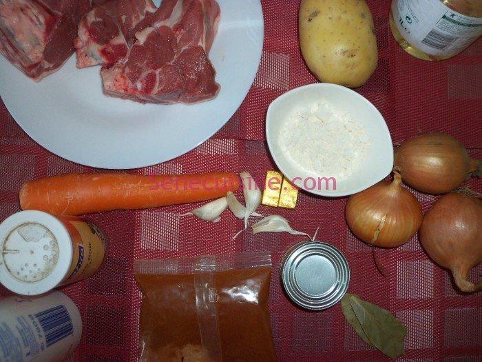 Ingrédients Navarin d'agneau