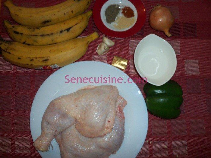 Ingrédients poulet braisé
