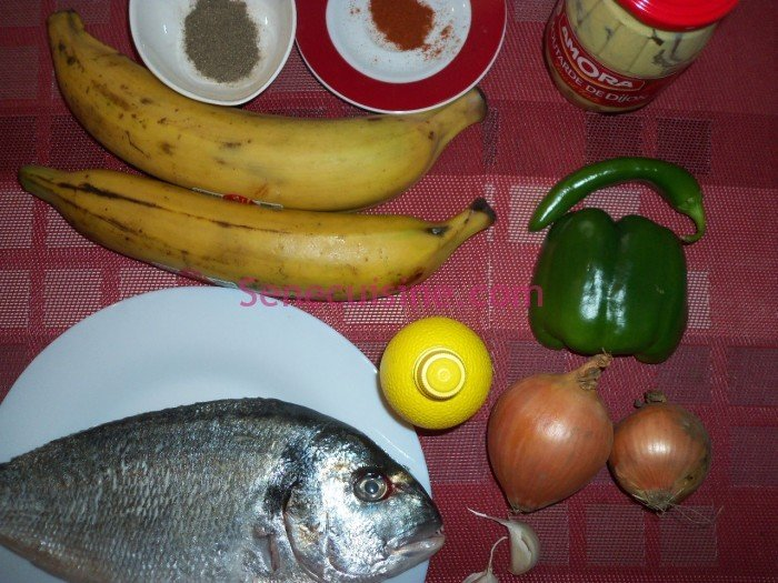 Ingrédients préparation poisson braisé