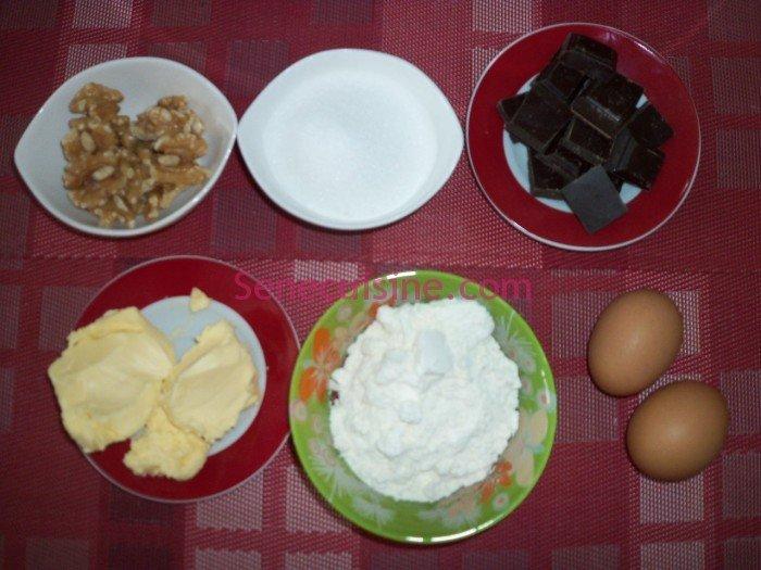 Ingrédients recette brownie