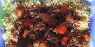 Plat de Vermicelles à la viande
