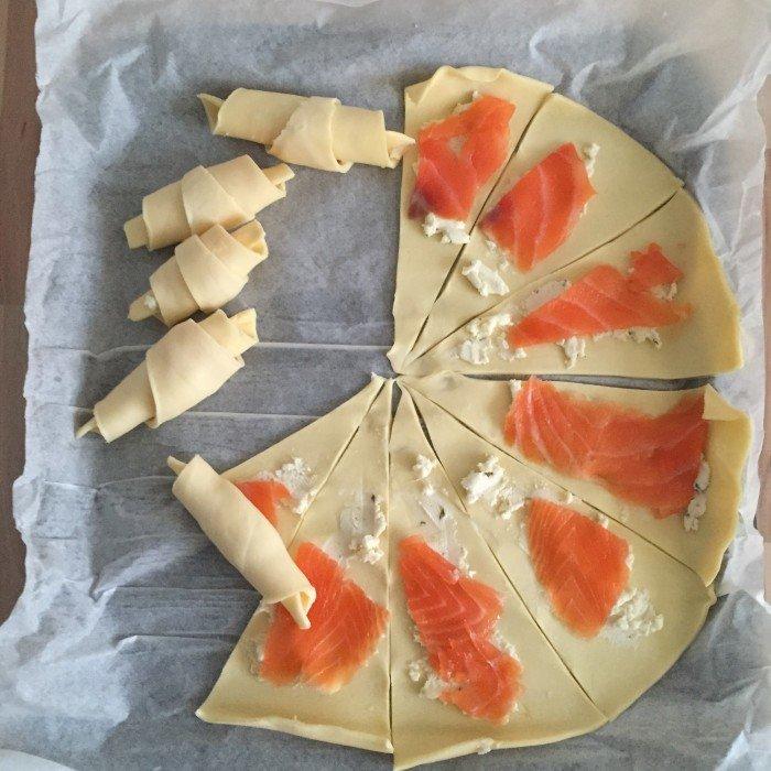 Recette croissants au saumon