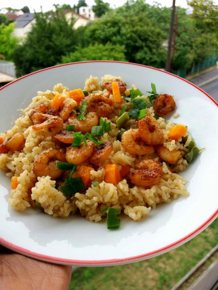 Riz Saute Aux Crevettes Senecuisine Cuisine Senegalaise